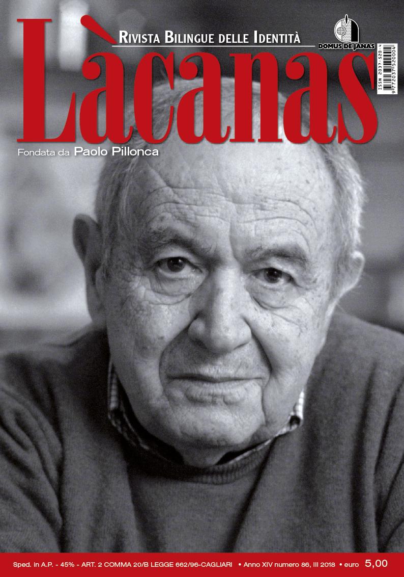 Copertina Làcanas 86 - Speciale Paolo Pillonca
